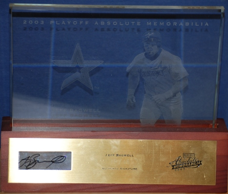 Bagwell 2003 Absolute Glass Plaque Autographed