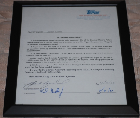 Bagwell Topps Card Contract