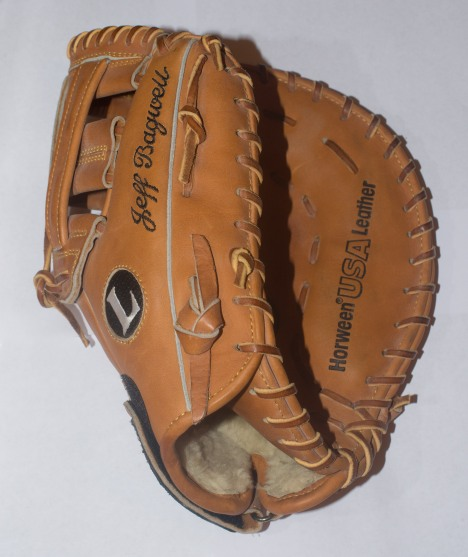Jeff Bagwell Game Ready Fielder's Glove - Front View