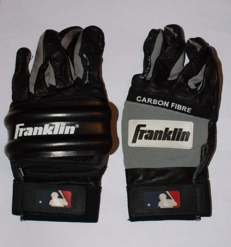 Jeff Bagwell Game Used Batting Gloves with the Hard Shell