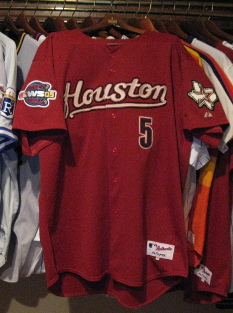 Jeff Bagwell Game Used World Series Jersey - Front