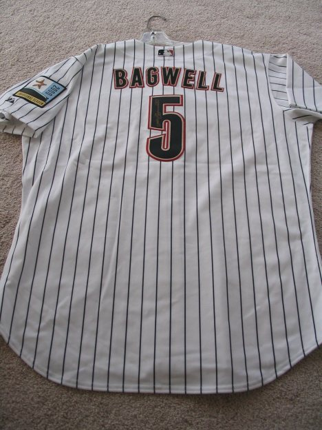 Jeff Bagwell 2000 Jersey Back with Autograph